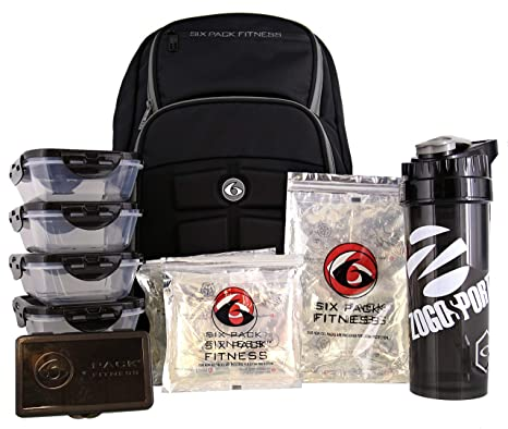 6205318b3bb0 Image Unavailable. Image not available for. Color  6 Pack Fitness  Expedition Backpack W Removable Meal Management System 500 Black Grey