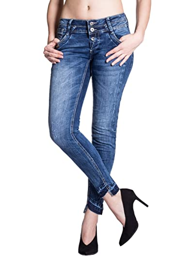 Anny,BM 1764 Blue Monkey Jeans Repaired Damen Jeans Damen Jeans