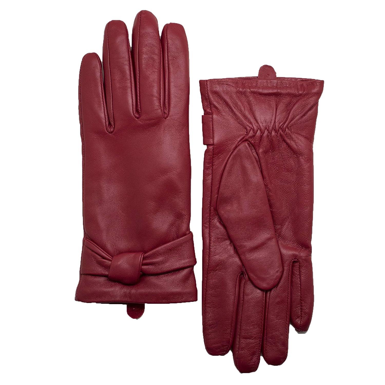 03ad52f9428b36 Handschuhe & Fäustlinge YISEVEN Soft Damen Lederhandschuhe für Winter Warm  Lammfell Farbige Handschuhe 100% Accessoires