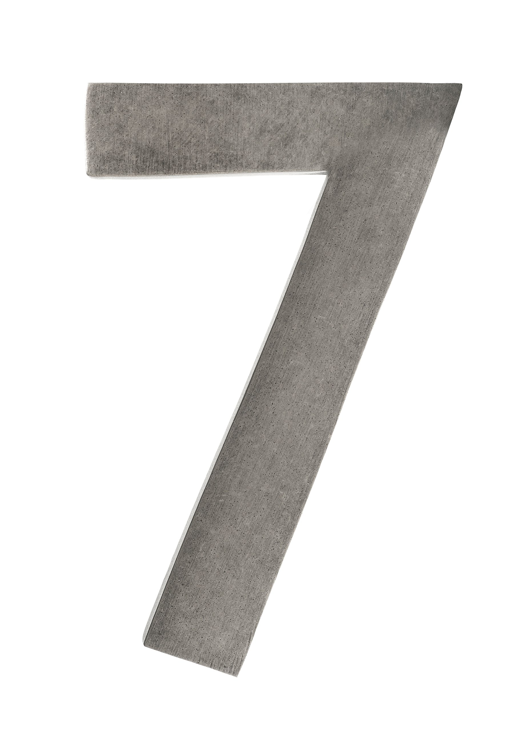 Architectural Mailboxes 3582APA-7 4 in. Brass Floating House Number 7, Antique Pewter by ARCHITECTURAL MAILBOXES