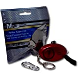 Minder 140db Police Approved Metallic Red Personal Rape Attack Alarm + Torch