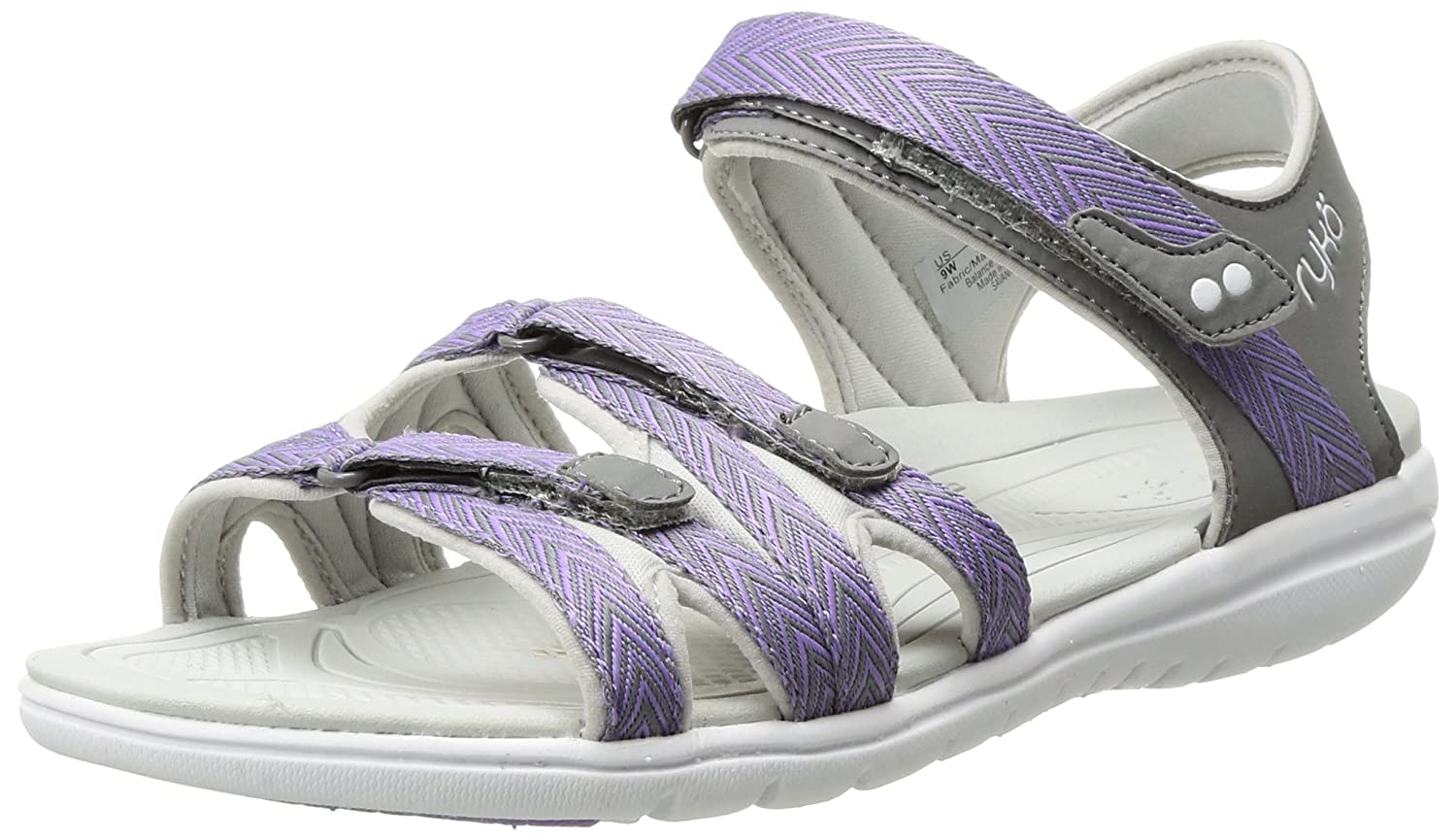 Ryka Women's Savannah Sandal B01KWH6FUE 9.5 W US|Grey/Purple