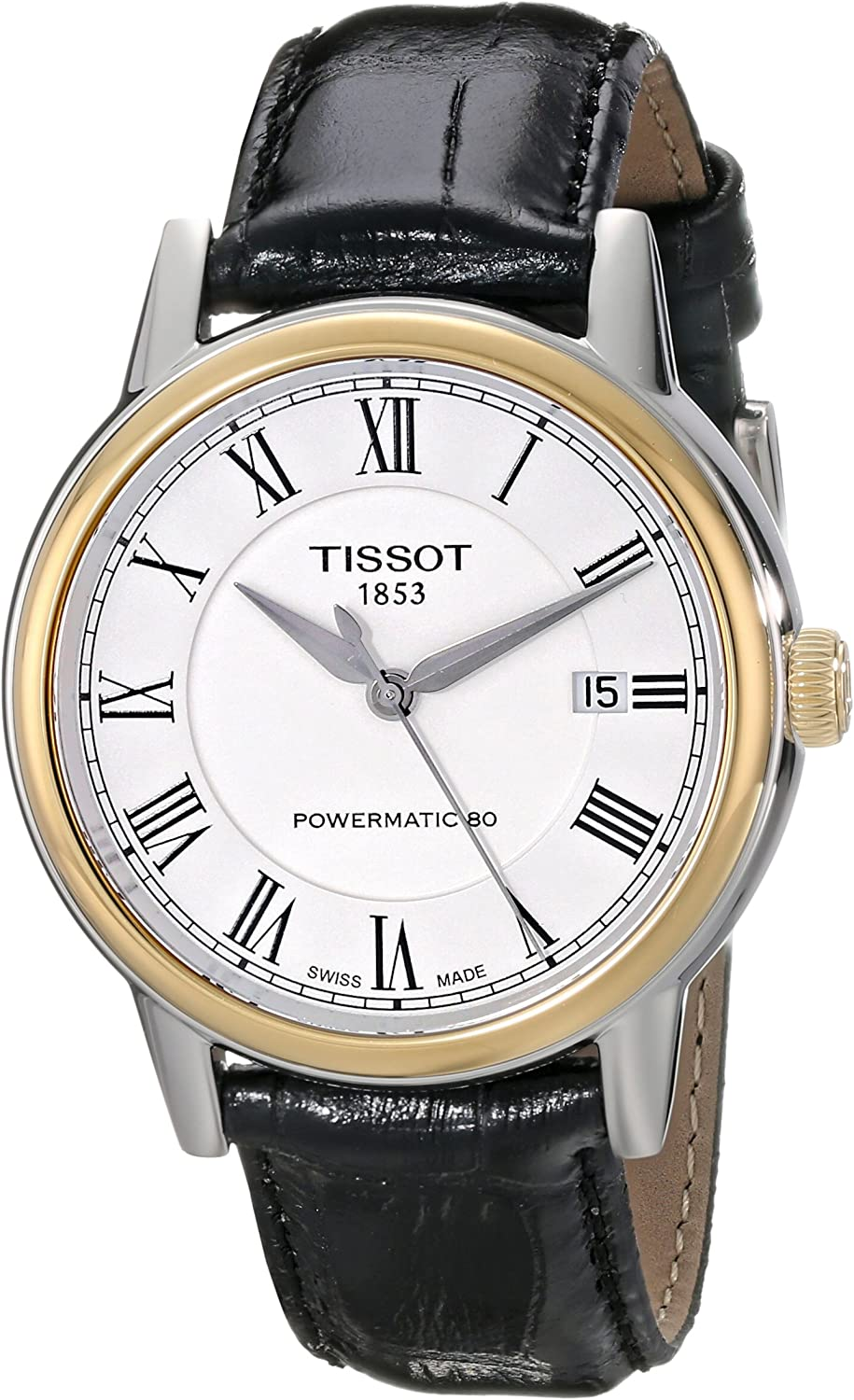 Tissot Men's T0854072601300 Carson Analog Display Swiss Automatic Black Watch