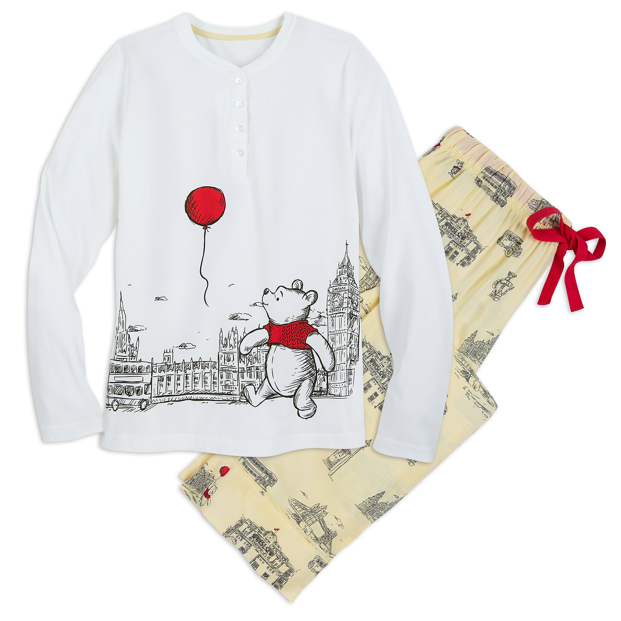 Disney Winnie The Pooh PJ Set for Women - Christopher Robin Ladies S Multi