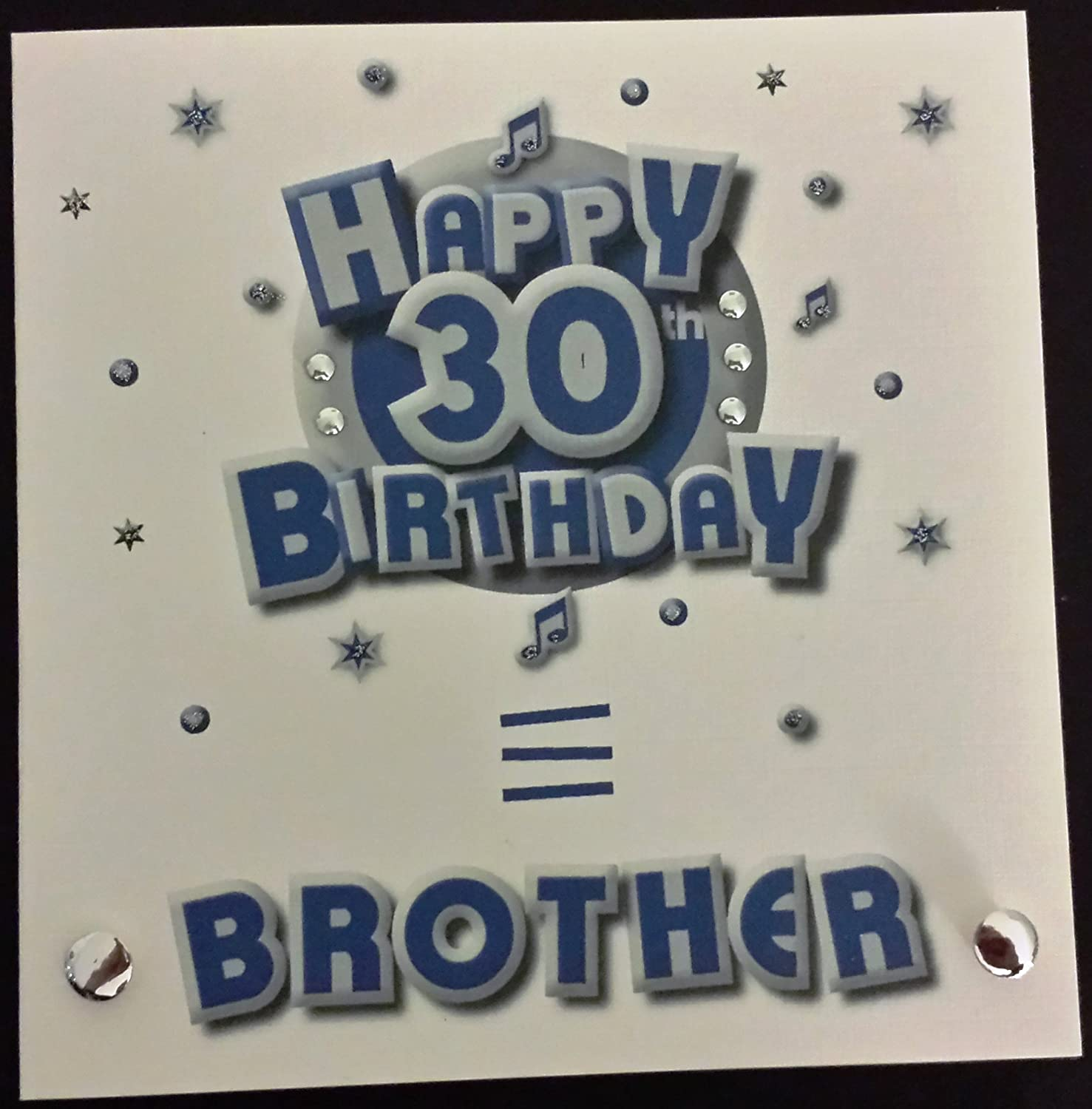 Happy birthday card brother 30th birthday handmade card amazon happy birthday card brother 30th birthday handmade card amazon kitchen home bookmarktalkfo Images