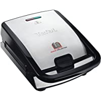 Tefal Snack Collection SW852D61 Multi-Function Sandwich and Snack Maker with Interchangeable Plates, 700 W, Stainless Steel and Black