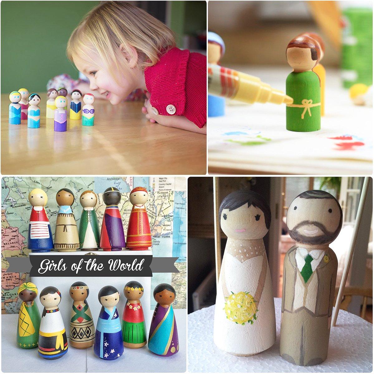 ULTNICE - Muñeca de madera sin acabar, muñecas de ángel para manualidades, 20 unidades: Amazon.es: Hogar