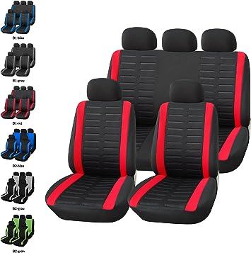 Coprisedili Rosso Nero Universali Auto Fodere Set Copri-sedile Universale