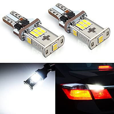JDM ASTAR Super Bright Error Free 360-Degree Shine 921 912 GX-3020 Chipsets White LED Bulbs For Backup Reverse Lights: Automotive