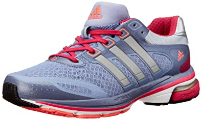 adidas Performance Women's Supernova Glide 5 W Running Shoe, Prism BlueSilverPink