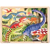Melissa & Doug Dinosaurs Wooden Jigsaw Puzzle With Storage Tray (24 pcs)