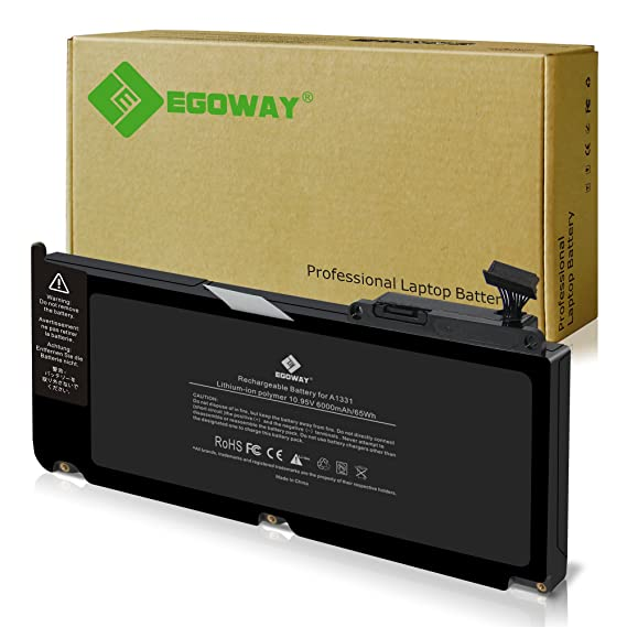 Amazon.com: Egoway Replacement Battery A1331 for MacBook 13 inch A1342 MC207LL/A MC516LL/A: Computers & Accessories