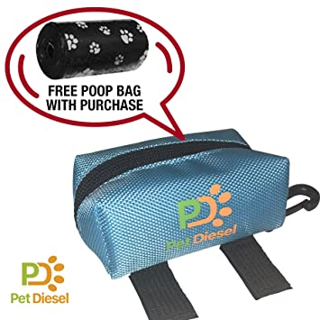 Amazon.com: Perro caca bolsa soporte + rollo de bolsas de ...