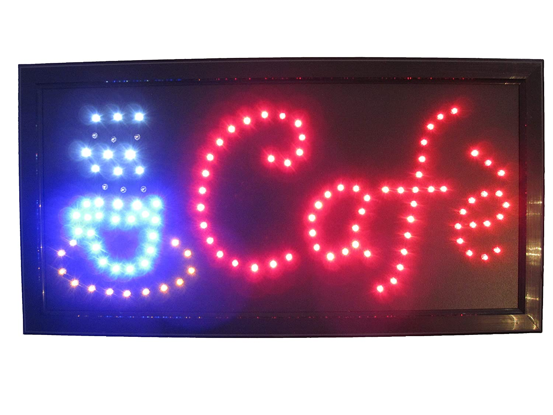 Open abierto LED Cartel Cartel Leuchtreklame Reklame Display ...