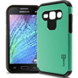 Galaxy J1 Case (Verizon only), Protective Dual Layer Hybrid [CoverON Slim Guard] Full Body Thin Impact Shield [Shockproof Design] Phone Cover Case for Samsung Galaxy J1 J100H / J100VZ - Mint Teal