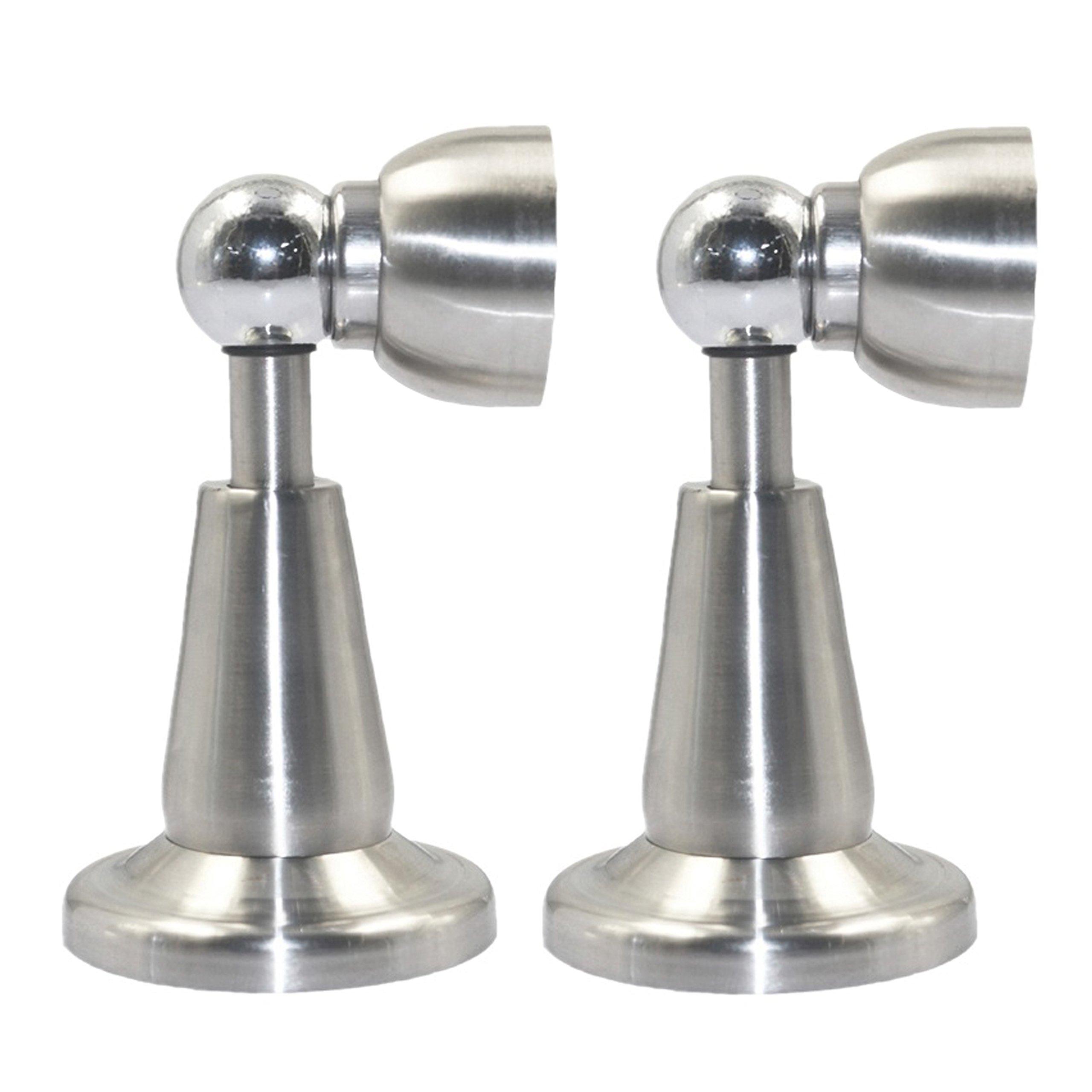 Xntun 2 Pack Soft Catch Door Stop Thickening Stainless Steel Door Stopper Heavy Magnetic Door Stops