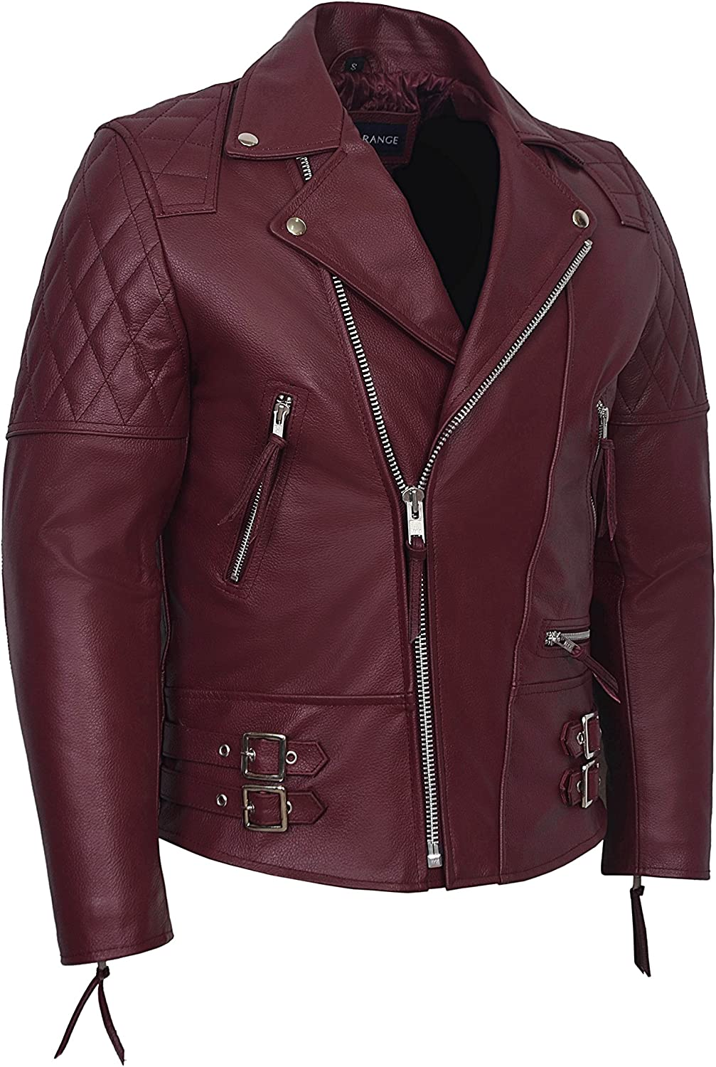 Men/'s Reckless 233 TAN Stone Washed Biker Style Motorcycle 100/% Leather Jacket