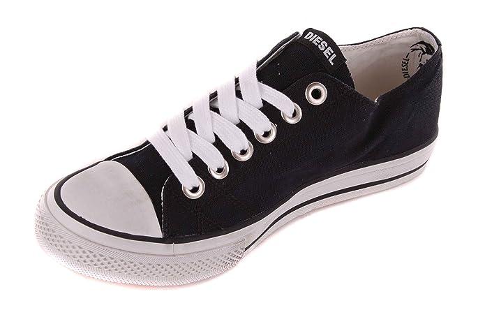 Diesel uomo Sneaker Lacci scarpe #8, Nero (nero), 40