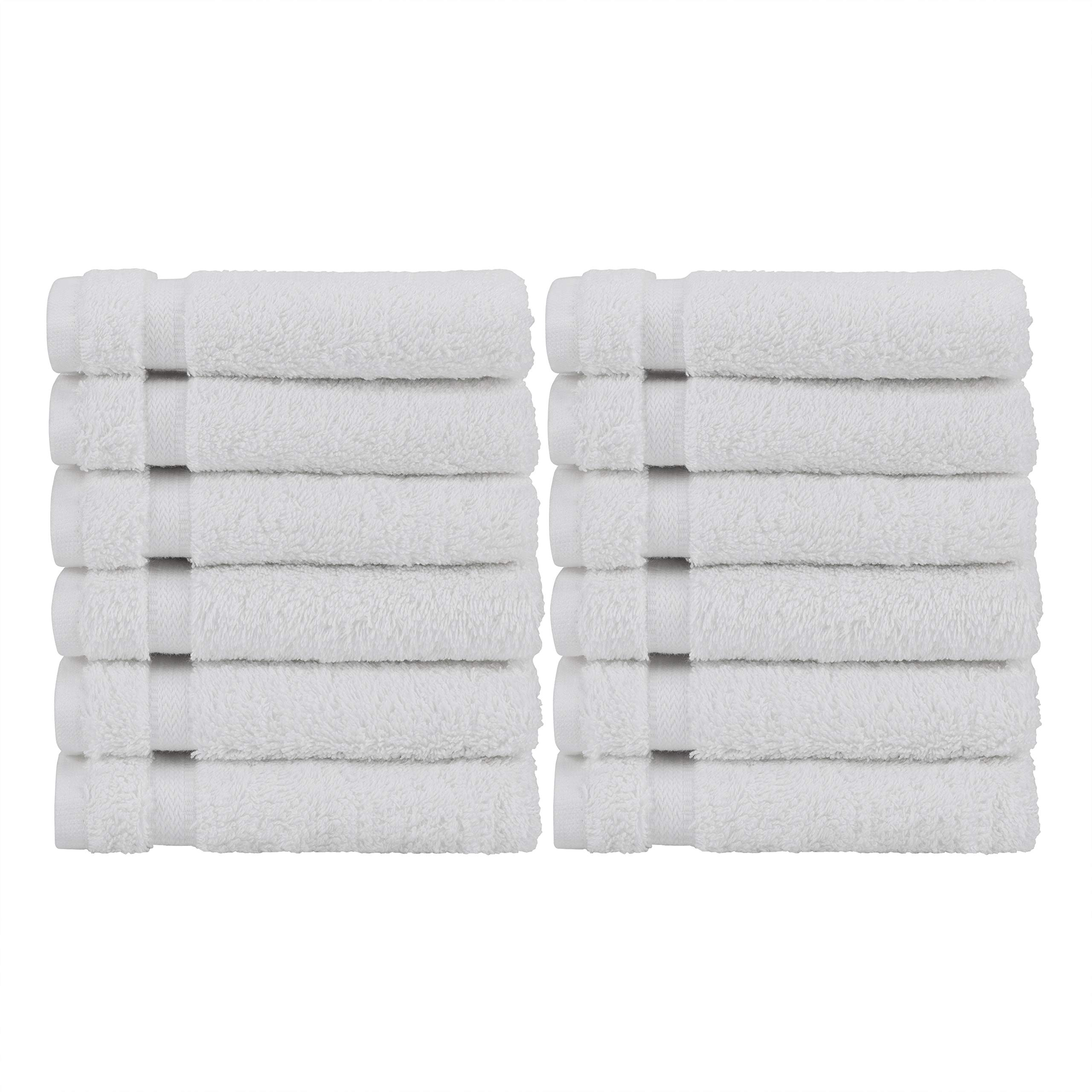 Baltic Linen Chelsea  100% Turkish Cotton Hotel Washcloths 13 x 13-inch White 12 Pack by Chelsea Collection by Baltic Linen