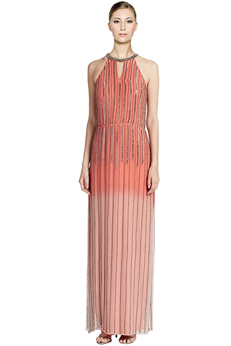 Amazon.com: Parker Revel Ombre Beaded Silk Evening Gown Dress: Clothing