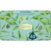 Lipton Thee Limited Edition Theedoos, het perfecte cadeau voor theeliefhebbers - 40 zakjes - 1 tinnen blik