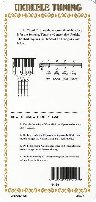 Amazon Ukulele Chord Chart Uke Chord Chart Musical Instruments