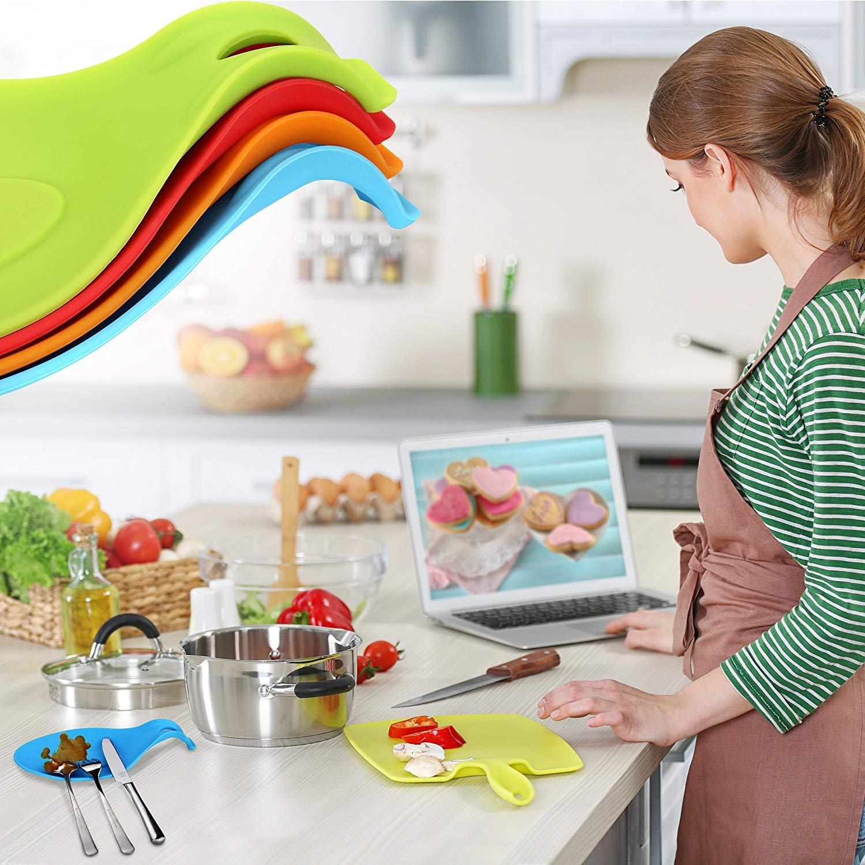 Amazon.de: ORBLUE Kochlöffelablage aus Silikon im farbenfrohen 4er Pack