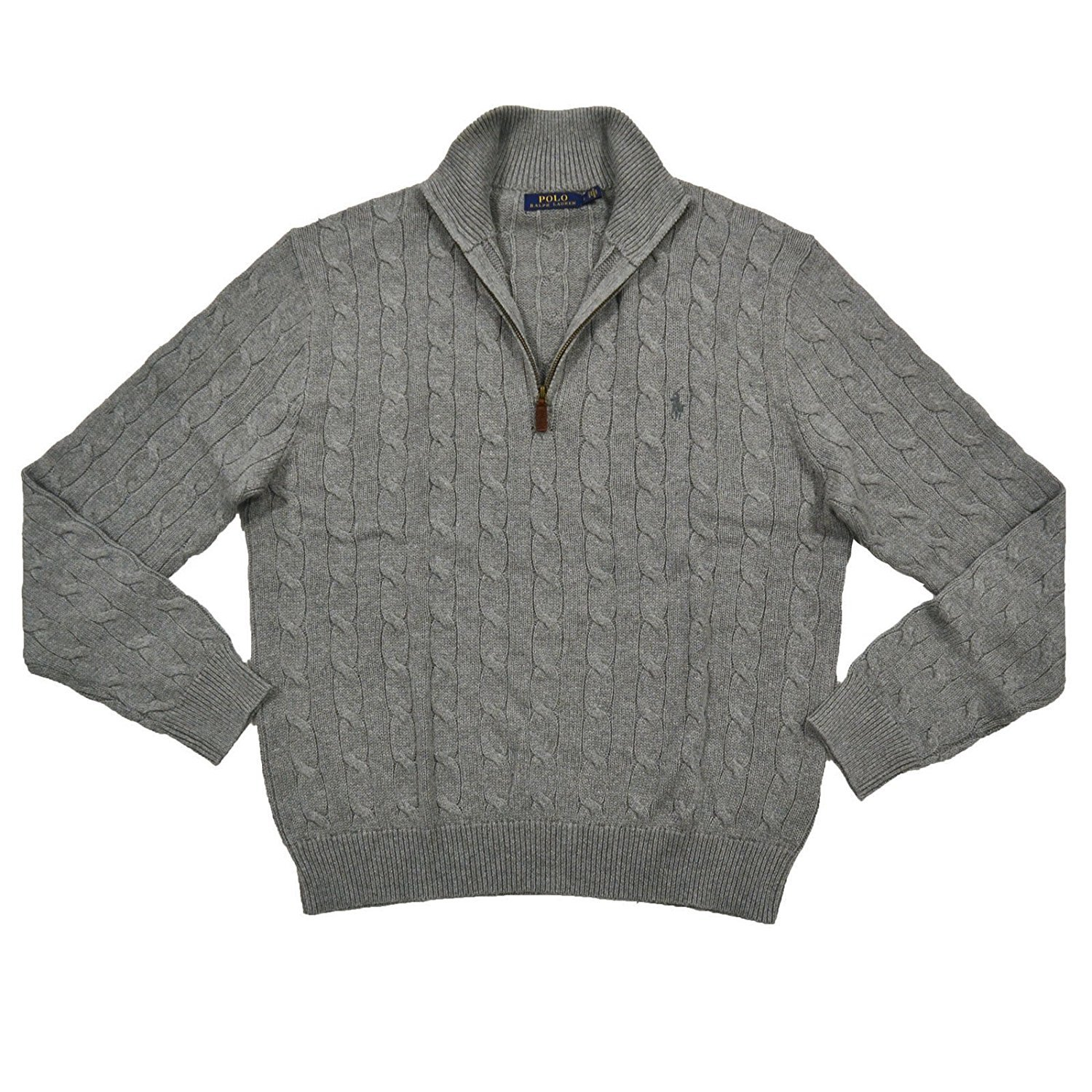 bdf099a7a Top3  Polo Ralph Lauren Mens Cable Knit 1 4 Zip Pullover Sweater