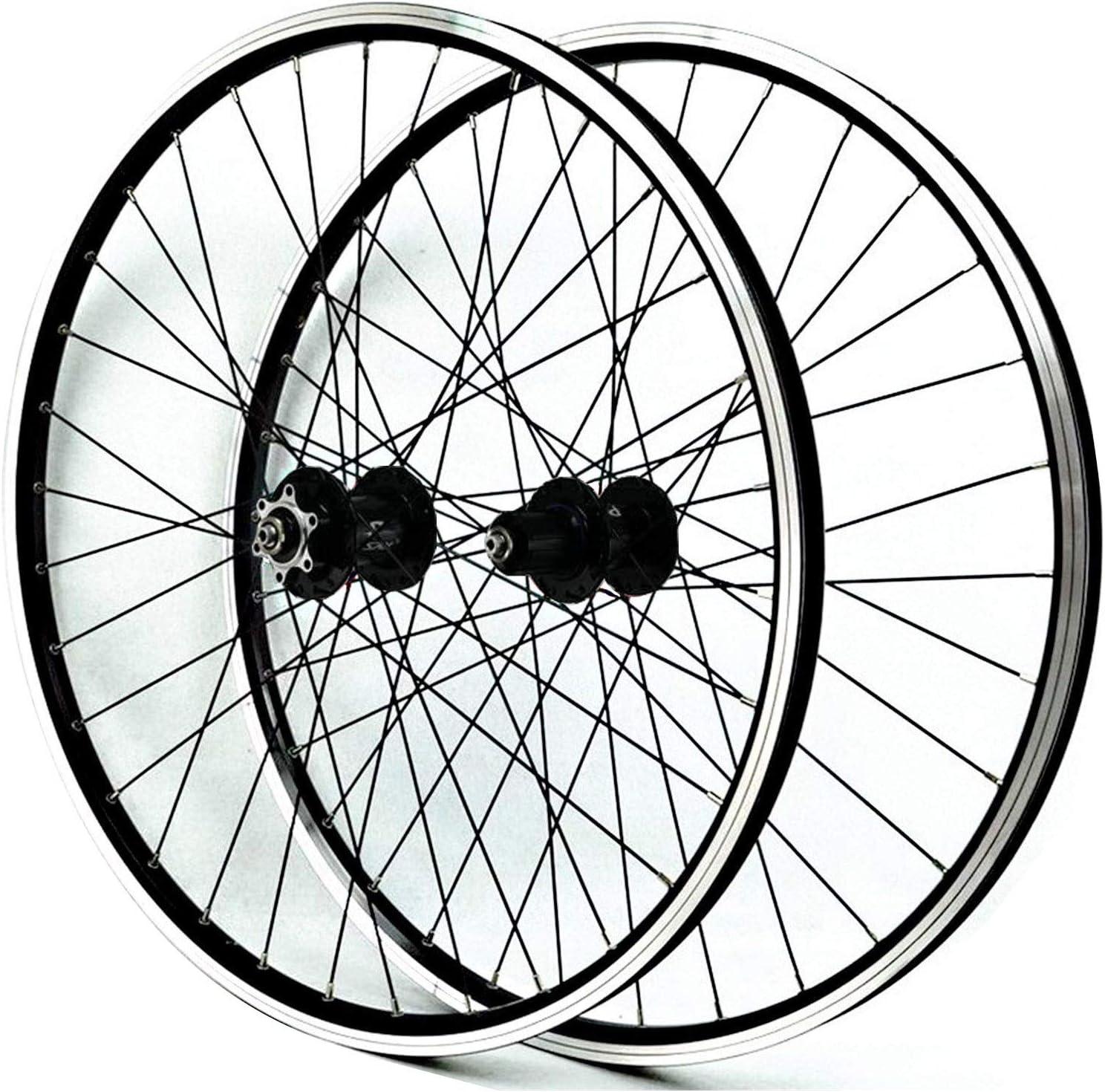 ZNND Juego Ruedas Bicicleta Montaña 26 Pulgadas Pared Doble Aluminio Freno De Disco/V Ruedas BTT Bici Frente 2 Trasero 4 Palin 32 Hoyos 7-11 Velocidades