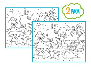 Amazon.com: Childrens Reusable Activity Coloring Placemats Including ...