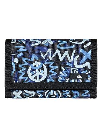 Quiksilver On Board - Cartera para Hombre, Color Azul/Negro, Talla M