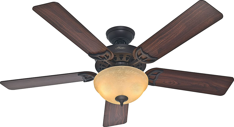 ハンターThe Sonora 52-inch天井ファン5つのブレードとボウルライトキット 52 53172 1 B00F0RC452  New Bronze