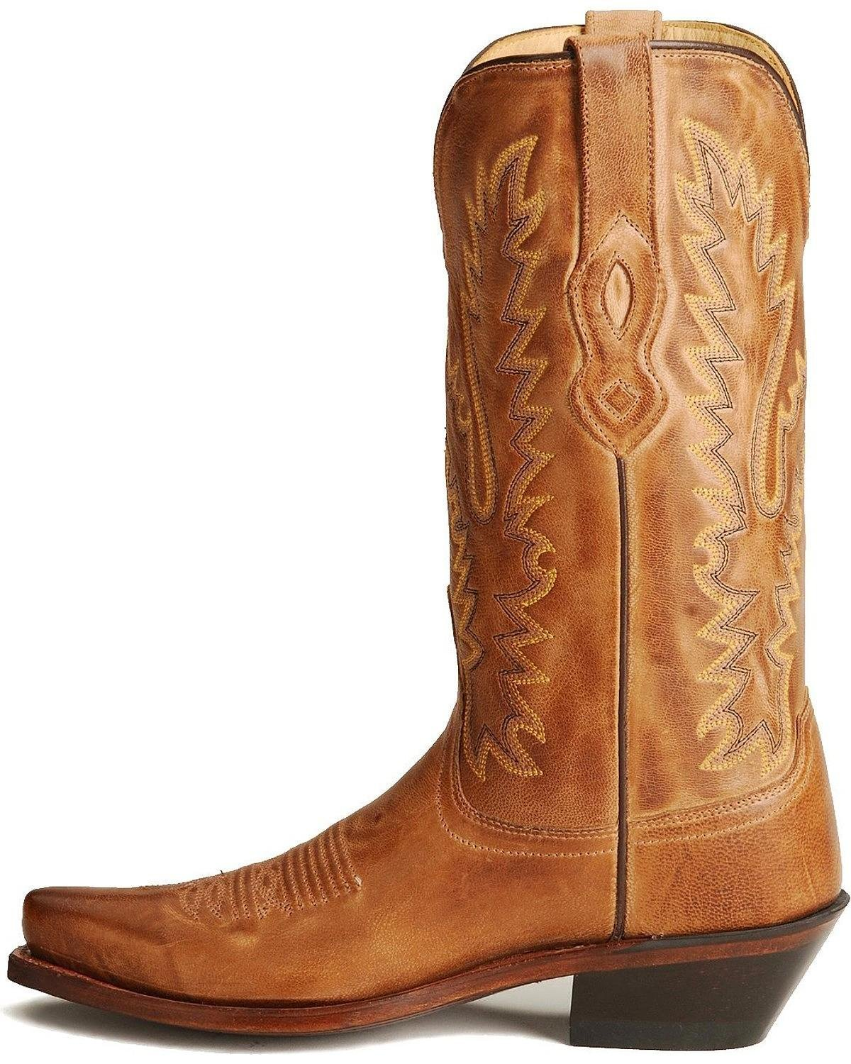 Old West Ladies Leather M Fashion Cowgirl Boots B005OO263G 8 M Leather US|Tan fe8fc7