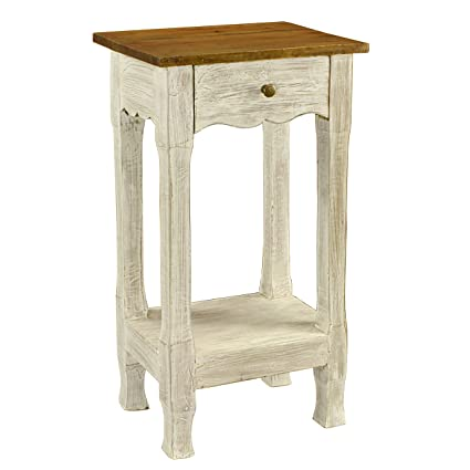 Antique Revival Amelia Nightstand, White - Amazon.com: Antique Revival Amelia Nightstand, White: Kitchen & Dining