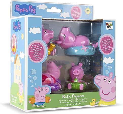 IMC TOYS 715098 - Figuritas para el baño Peppa Pig (4 figuras, surtido): Amazon.es: Juguetes y juegos