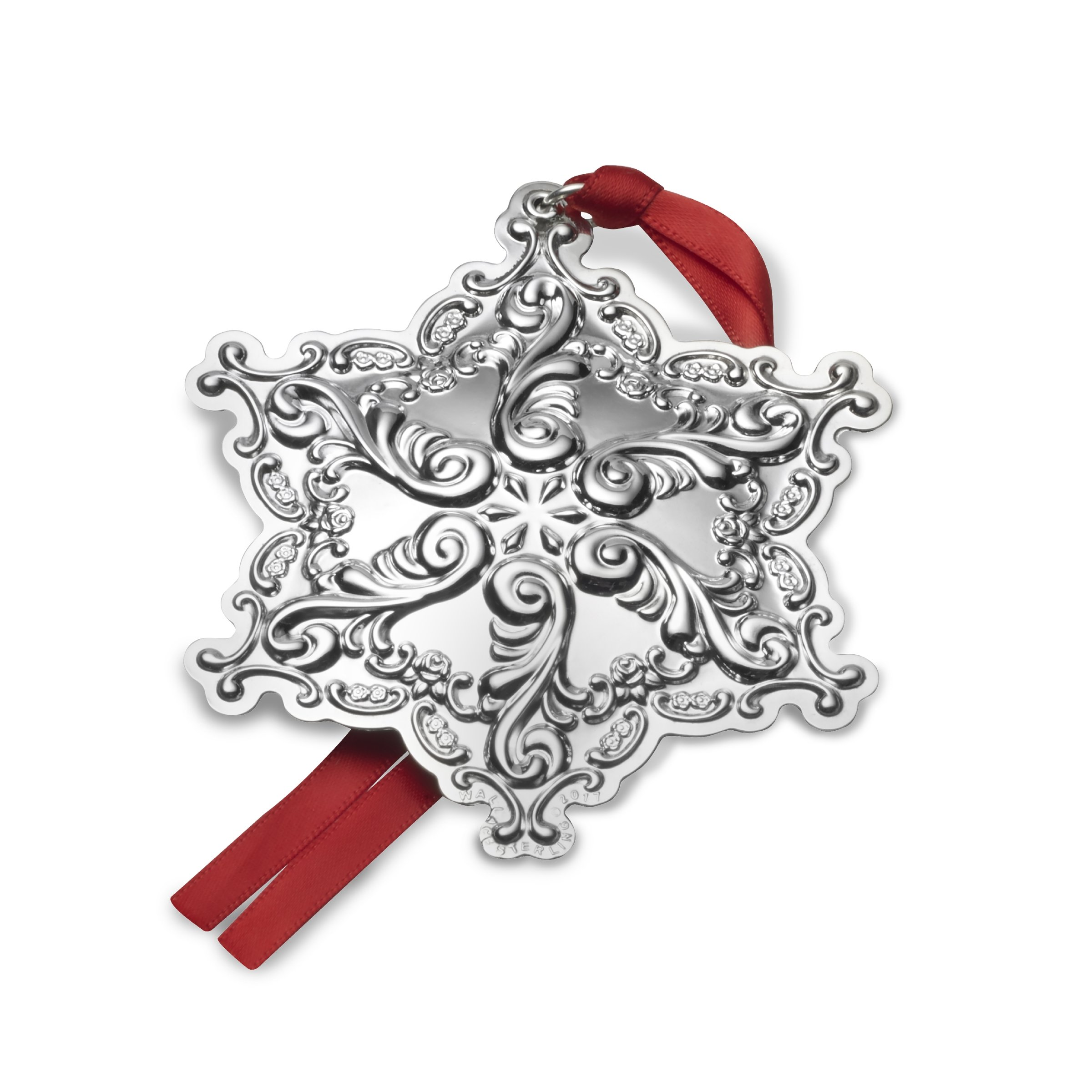 Wallace 2017 Sterling Silver Grand Baroque Snowflake Ornament, 20th Anniversary Edition by Wallace
