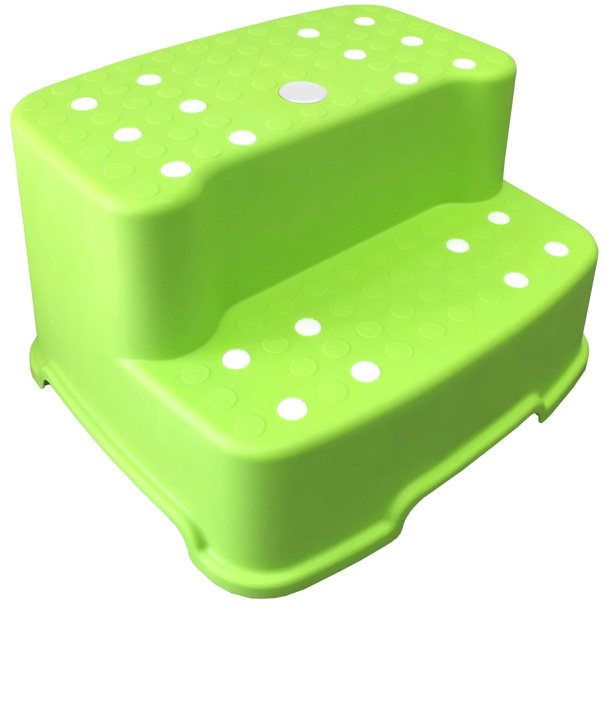 Tenby Living Jumbo Step Stool with Removable Non-Slip Caps and Rubber Grips, Green, Extra-Wide/Extra-Tall