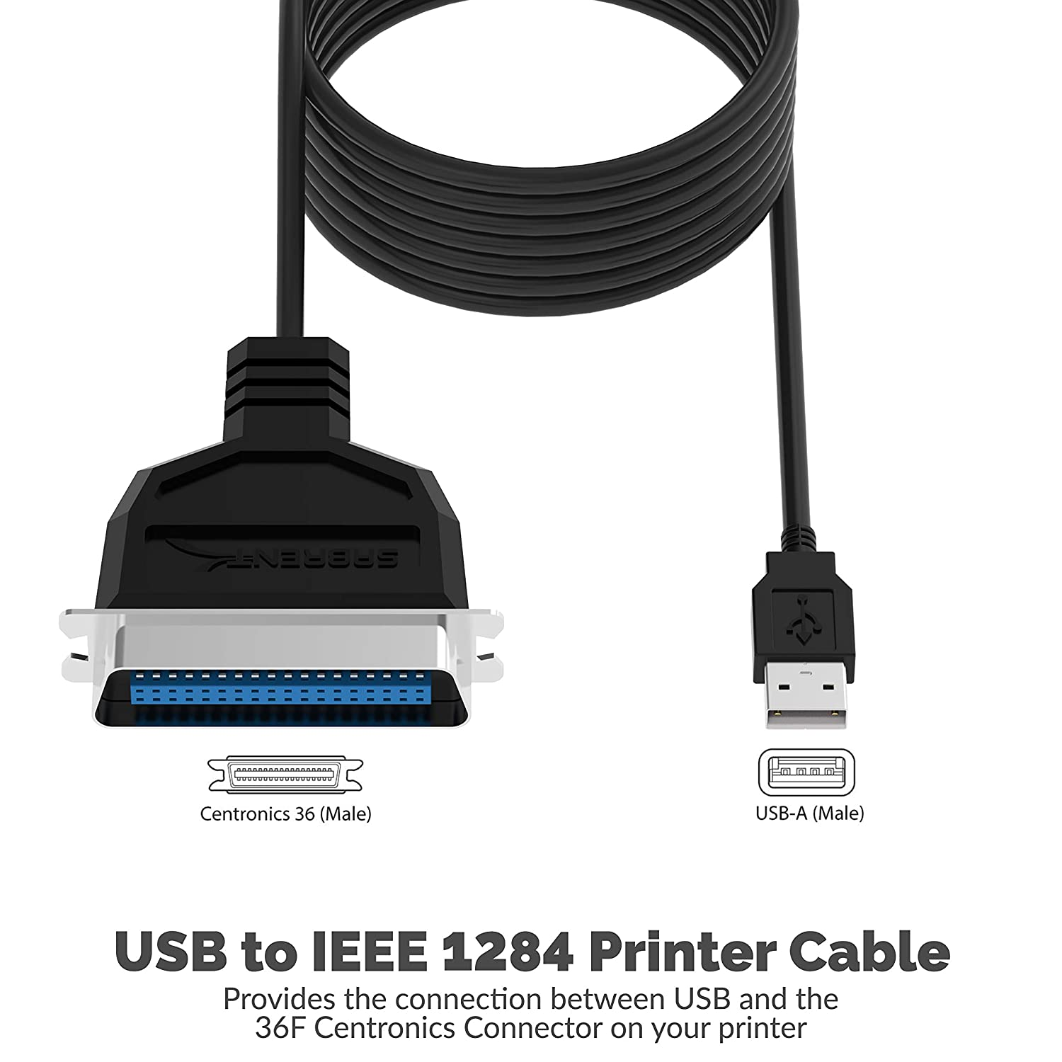 Amazon.com: Sabrent USB to Parallel IEEE 1284 Printer Cable Adapter on usb connections diagram, usb to vga diagram, usb port dimensions, usb connector wiring diagram, usb cable schematic diagram, obd2 to usb cable wiring diagram, rj11 cable wiring diagram, usb wire diagram, usb connector pinout diagram, usb sound card circuit diagram, usb to rca plug wiring diagram,