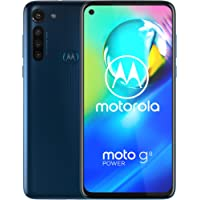 Moto G8 Power | Unlocked | International GSM only | 4/64GB | 13MP Camera | 2020 | Blue