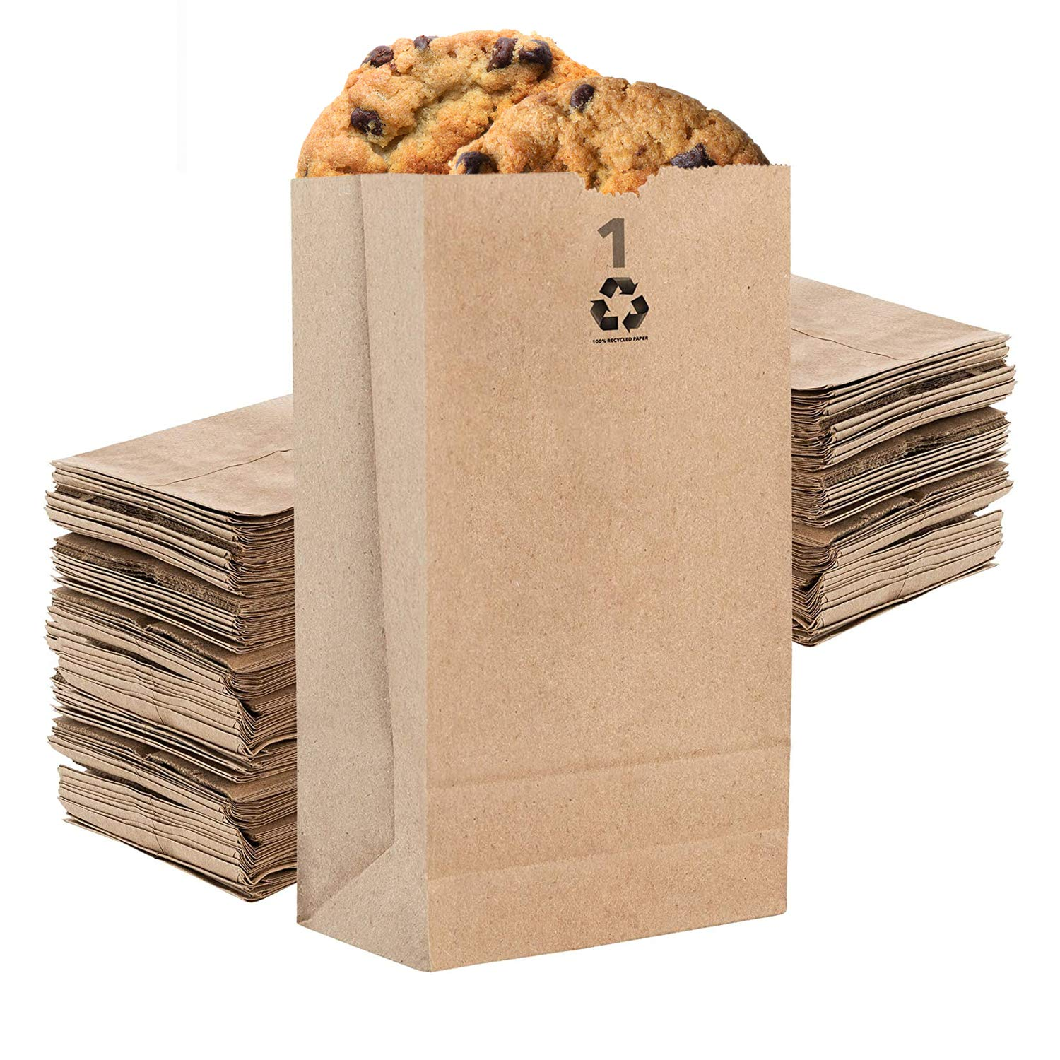 Stock Your Home 1 Lb Kraft Brown Paper Lunch Bags (250 Count) - Mini Paper Bags for Packing Lunch - Blank Kraft Brown Paper Sacks for Arts & Crafts Projects