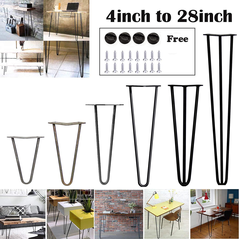 10 cm a 72 cm//4 pulgadas a 28 pulgadas estable altura de mesa est/ándar superior doble soldadura de acero 4 patas de mesa de horquilla
