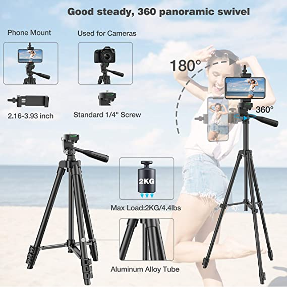 LWL Multifunctional Tripod Flexible and Lightweight Aluminum Bracket Mini Smart Phone Digital SLR Camera Mobile Phone Holder