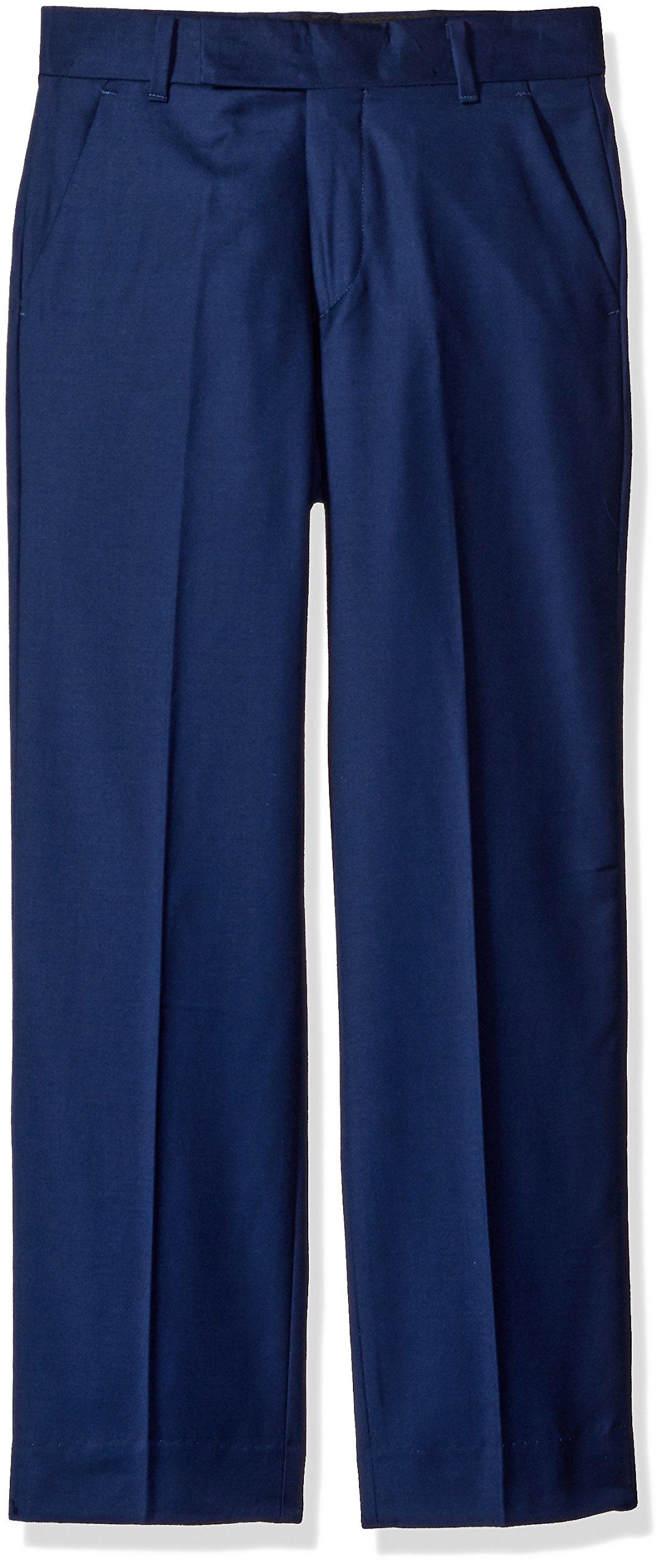 Calvin Klein Big Boys' Flat Front Dress Pant, Infinite Blue, 10 by Calvin Klein (Image #2)
