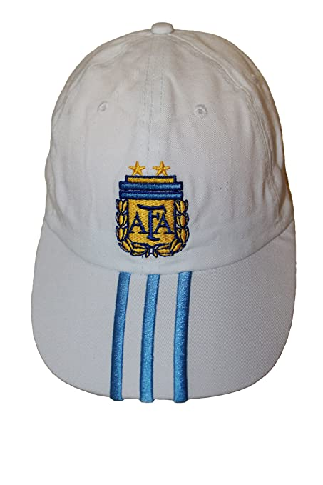 Amazon.com   Argentina White With Blue Stripes AFA Logo FIFA Soccer World  Cup Embossed Hat Cap .. New   Sports   Outdoors 21347384c08