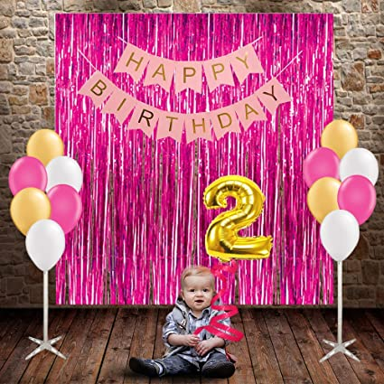 Party Propz 2Nd Birthday 29Pcs Combo For Girls Decoration Or Amazonin Toys Games