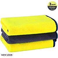 New Look Microfiber Cleaning Cloth, Premium Super Thick Car Detailing Towel, High Absorbent Double Faced Washing…