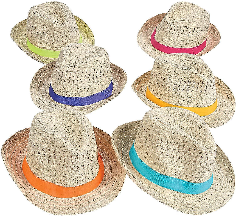 Men/'s Hat Gangster Straw W//flower Band Hawaiian Hula Party Fancy Dress Accessory