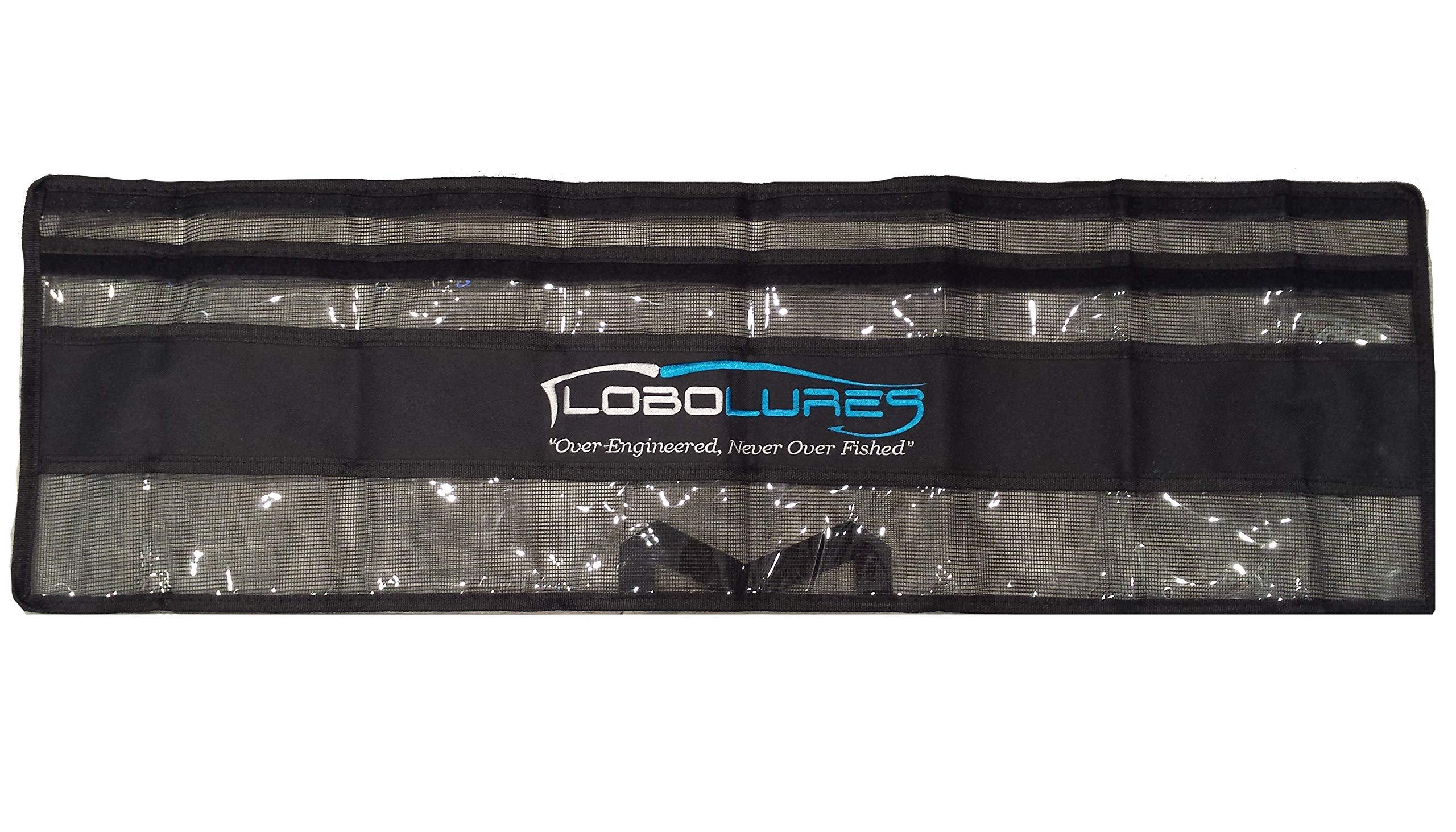 Lobo Lures 2 Pack 40'' x 10'' Premium Spreader Bar Storage Bag with Handle Mesh Back