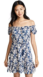 4c4691a8e7 Tiare Hawaii Women's Rose Long Dress, Stained Floral Tosca, One Size ...