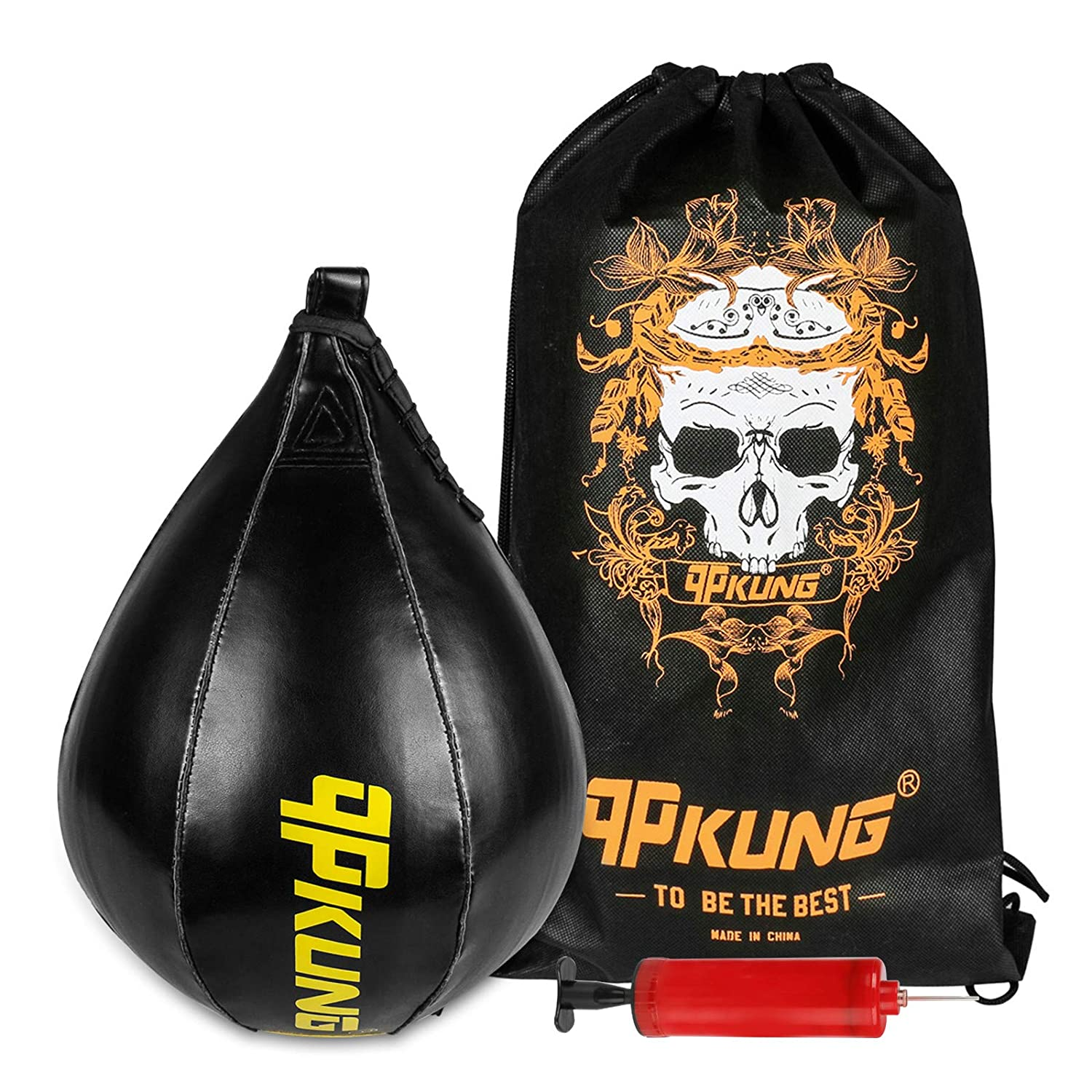 Speed Ball Training Punching Bag Boxing MMA Pear Shaped Exercise Ball Equip.